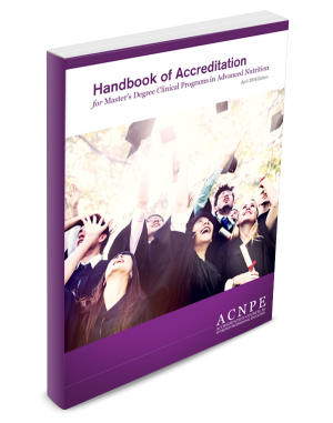 Cover: ACNPE Handbook of Accreditation.